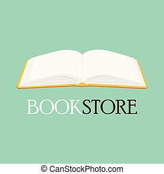 Bookstore, bookshop vector emblem, sign, symbol, logo, icon...