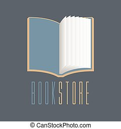 Bookstore, bookshop vector sign, icon, symbol, emblem, logo