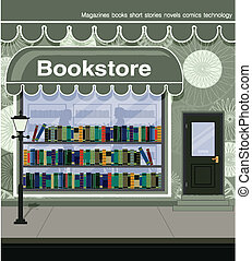 Bookstore located on the city streets.