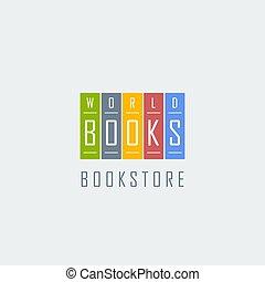 bookstore logo template