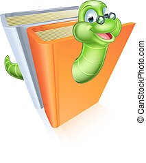 Bookworm cartoon