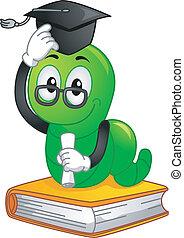 Bookworm Mascot Graduate