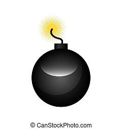 boom alert isolated icon