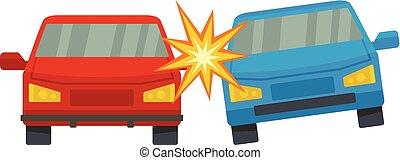 Boom car icon, flat style