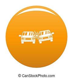 Boom car icon orange
