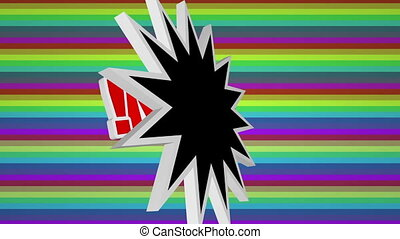 Boom comic pop art text against colorful background