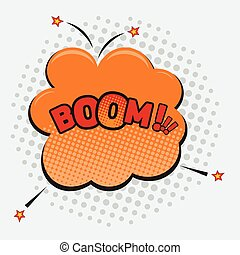 Boom - Comic sound effects in pop art vector style.