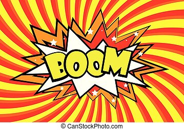 Boom Comic sound effects in pop art style