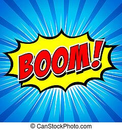 Boom! Comic Speech Bubble.