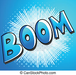 Boom - Comic Vector Background