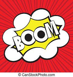 Boom comic, Vector illustration