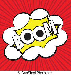 Boom comic, Vector illustration
