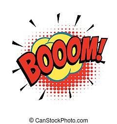boom comic word