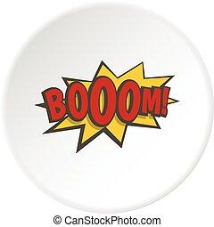 Boom, explosion icon circle