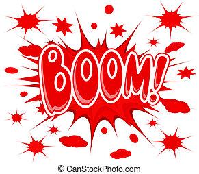 Boom explosion icon
