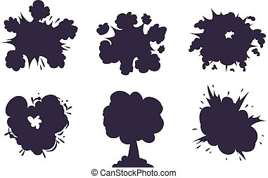 Boom explosion vector illustration.