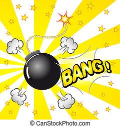 boom explosion - vector illustration of a cartoon explosion ...