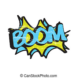 boom icon over white background vector illustration