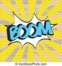 boom icon yellow - boom icon over yellow background vector...