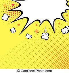 boom., komik książka, wybuch, na, top., tło