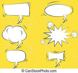 boom., libro comic, esplosione, set