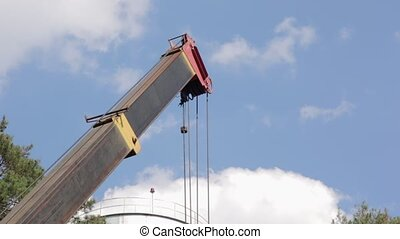 Boom of the Construction Crane - Boom of building...