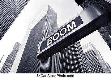 boom - picture of a conjuncture concept