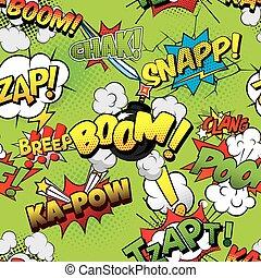 Boom Seamless comics background