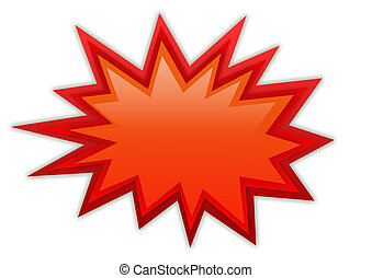 Boom splash red icon