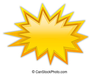 Boom splash star isolated on white
