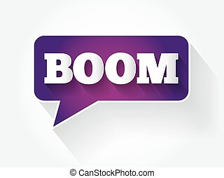 BOOM text message bubble