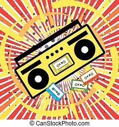 boombox, arte, pop, icona