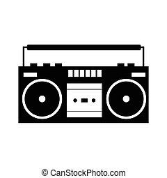 Boombox black simple icon