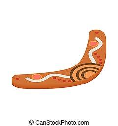 Boomerang icon, isometric 3d style