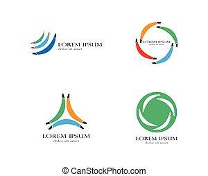 Boomerang icon. Logo. Vector illustration.