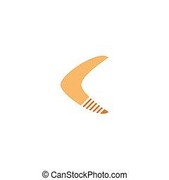 Boomerang logo illustration vector flat design