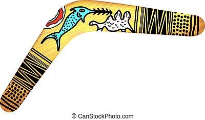 boomerang, tribal, isolé
