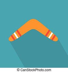 boomerang, vecteur, coloré, illustration, icon-