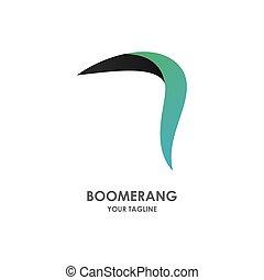 Boomerang weapon illustration logo vector flat design