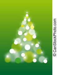 boompje, abstract, vector, kerstmis