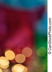 boompje, -, brandpunt, onder, kerstmis, uit
