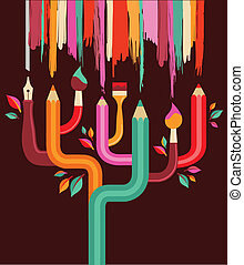 boompje, creatie, concept, kunst, illustratie