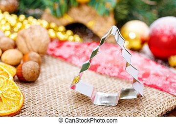 boompje, gevormd, koekje cutter