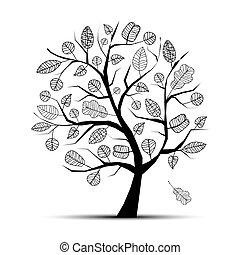 boompje, jouw, kunst, ontwerp, mooi