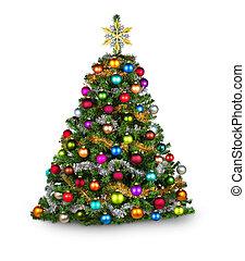 boompje, kerstmis, colorfull