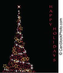 boompje, kerstmis, het fonkelen