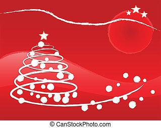 boompje, kerstmis, illustratie