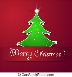 boompje, kerstmis kaart