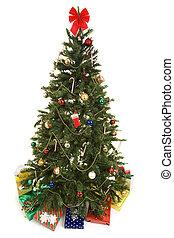 boompje, kerstmis, vrijstaand, kadootjes