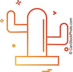 boompje, pictogram, ontwerp, vector